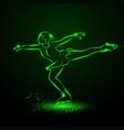 figure skating neon vector image