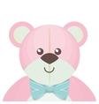 cute bear teddy isolated icon vector image