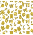 Honey seamless pattern vector image