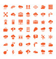 49 cloud icons vector image vector image