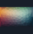 abstract colorful low poly background with warm vector image vector image