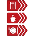 arrow with food sign vector image vector image