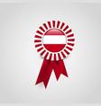 austria flag badge design vector image vector image