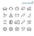 auto service line icons editable stroke vector image vector image