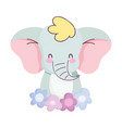 baby shower cute elephant with flowers decoration