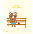 bear waiting love vector image vector image