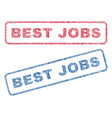 best jobs textile stamps vector image vector image