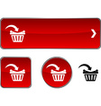 Buy button set vector image vector image