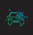 car fire icon design vector image vector image