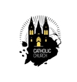 Catholic Cathedral Church silhouette vector image