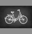 chalk sketch vintage bicycle vector image