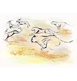 cheetah chase vector image