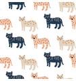 cute wild cheetah cat seamless pattern abstract vector image vector image