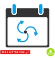 Cyclone Calendar Day Eps Icon vector image vector image