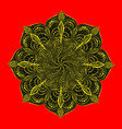 decorative mandala spiral pattern coloring under vector image vector image
