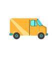 delivery truck design flat design vector image