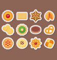 different cookie cakes top view sweet food tasty vector image