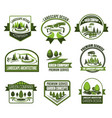 eco parks and gardens landscape design service vector image vector image