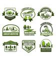 eco parks and gardens landscape design service vector image