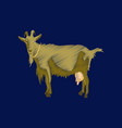 flat shading style icon goat vector image vector image