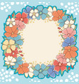 floral frame cute background vector image vector image