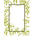 frame with apples and leaves vector image vector image