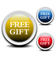Free gift labels vector image vector image