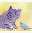 friendship cat and mouse meeting vector image vector image