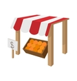 Fruit stall icon cartoon style vector image
