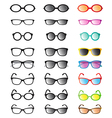 Glasses and Sunglasses vector image vector image
