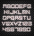 glowing white neon alphabet vector image vector image