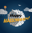 Halloween greeting card Happy Halloween vector image vector image