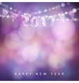 Happy new year greeting card with 2017 Glittering