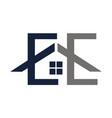 home service letter e e vector image vector image