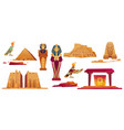 icons ancient egypt landmarks vector image
