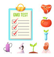 isolated object of genetic and plant symbol set vector image vector image