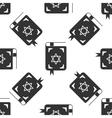 Jewish torah book icon pattern on white background vector image