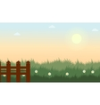 Landscape of grass at spring vector image vector image
