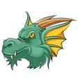 mascot head an dragon vector image vector image