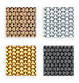 metal gold silver copper seamless patterns set vector image
