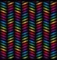 multicolor chevron seamless pattern vector image