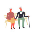 old people love and romance faceless vector image vector image