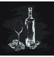 Oyster wine and glass vector image vector image