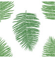palm leaves seamless pattern green background vector image