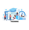 people group learning business courses training vector image