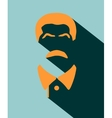 portrait of Joseph Stalin Flat icon style vector image vector image
