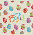 seamless pattern easter eggs different texture vector image