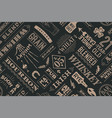 seamless pattern with types of whiskey vector image vector image