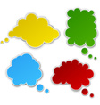 Set of paper color clouds vector image