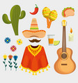 set traditional day of the dead celebration vector image vector image